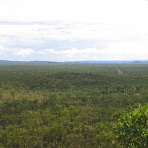 Landscape to NE note Kakadu Hwy