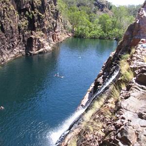 Waterfall into main pool