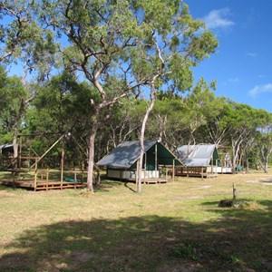 Beachfront cabins