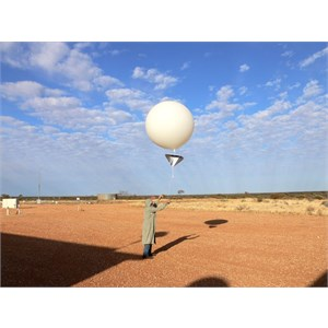 The weather balloon goes up