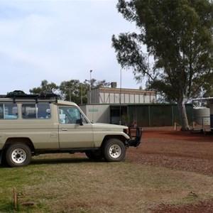 green grass at the caravan park