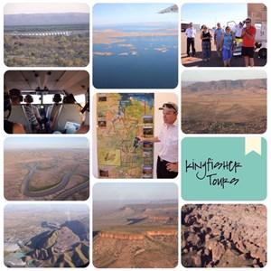flight over Kununurra, Argyle Dam, Argyle Diamond Mine, the Bungle Bungle, Wyndham