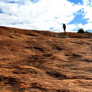 walking on McDermid rock