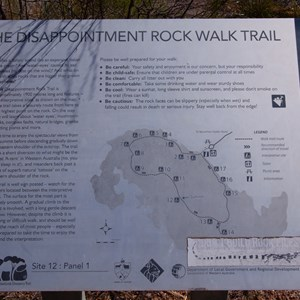 The Disappointment Rock Walk Trail