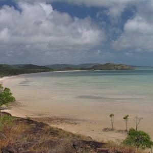 View south along beach