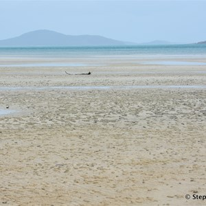 """At low tide, it is an easy beach walk to """"The Tip"""""""