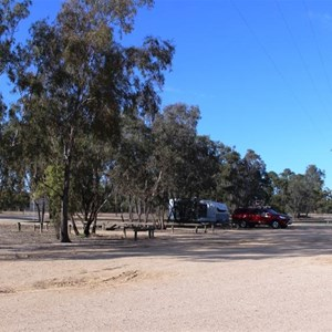 View of the camping caravan area