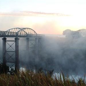 Dickabram Bridge in the morning mist