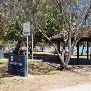 Picnic facilities at La Balsa Park