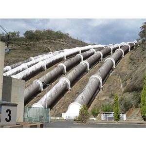 Black algae on pipelines