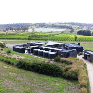 The buildings of the winery, cellar door and restaurant