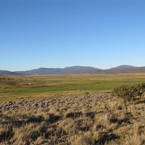 View east to Bimberi Range