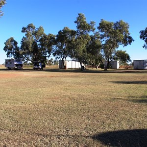 Open grassed camping area