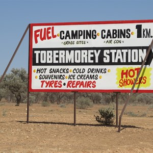 Sign at highway turnoff