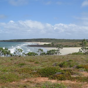 Point rear left beyond Narau beach