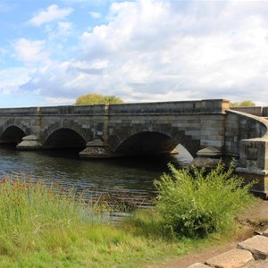 The historic Ross Bridge completed in 1836