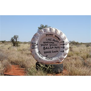 Sign on entering Kiwirrkurra