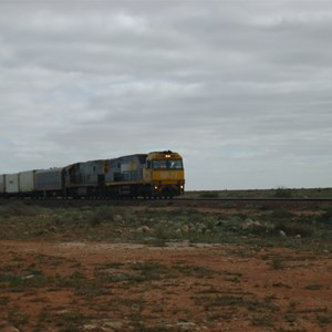 Train approaching Haig crossing