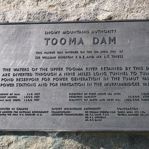 Tooma dam statistics