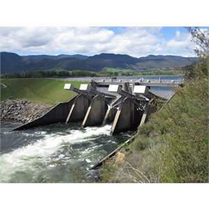 Water releases via central regulating gate -Oct 14