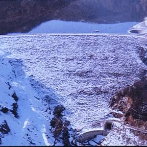 Geehi dam downstream face