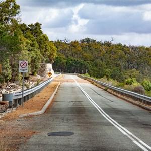 Road over dam