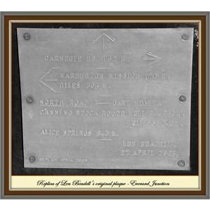 Len's plaque - Everard Junction