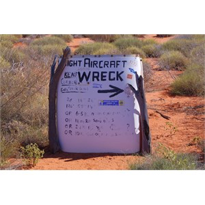 Track Marker to Plane Wreck Site
