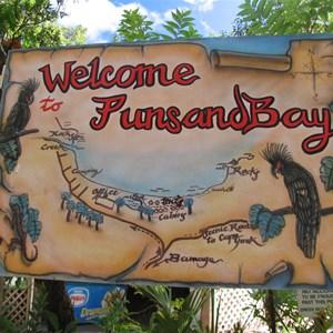 Resort entry sign