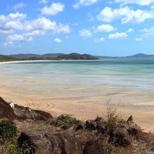 Punsand Bay viewed from the high point on Cape York