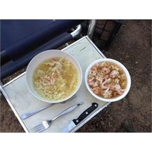 Yabbie noodle soup